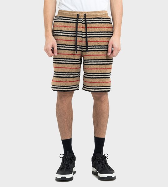 Icon Stripe Fleece Drawcord Shorts