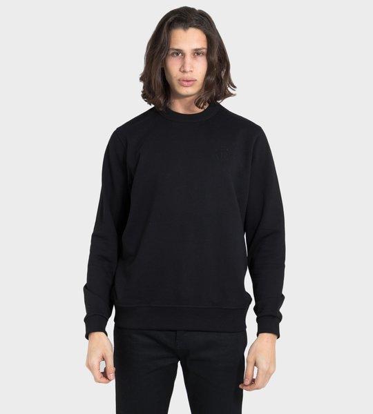 Crystal Monogram Motif Sweatshirt
