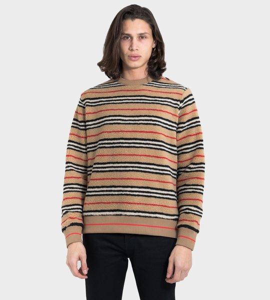 Icon Stripe Fleece Sweatshirt