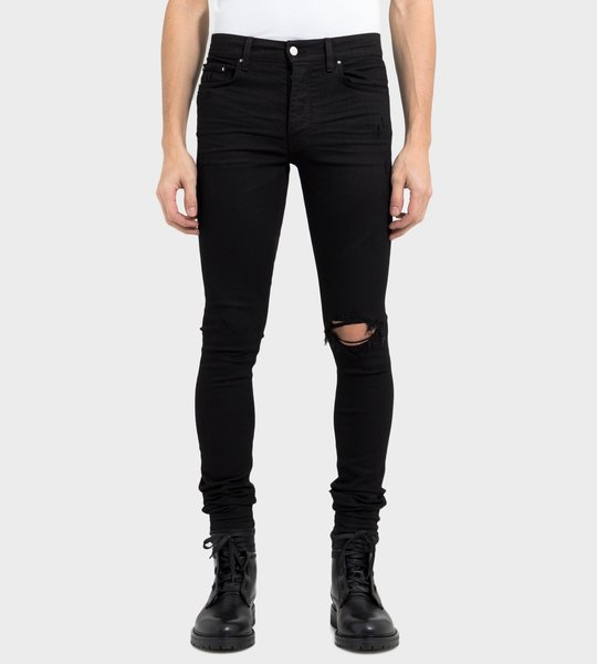 Black Broken Jeans