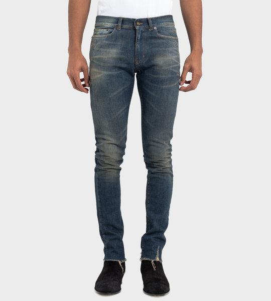 Raw-Edge Skinny Jeans