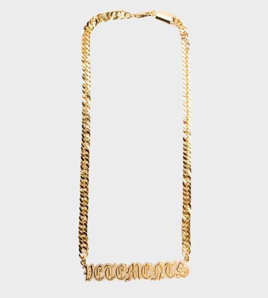 Vetements Gothic Logo Necklace