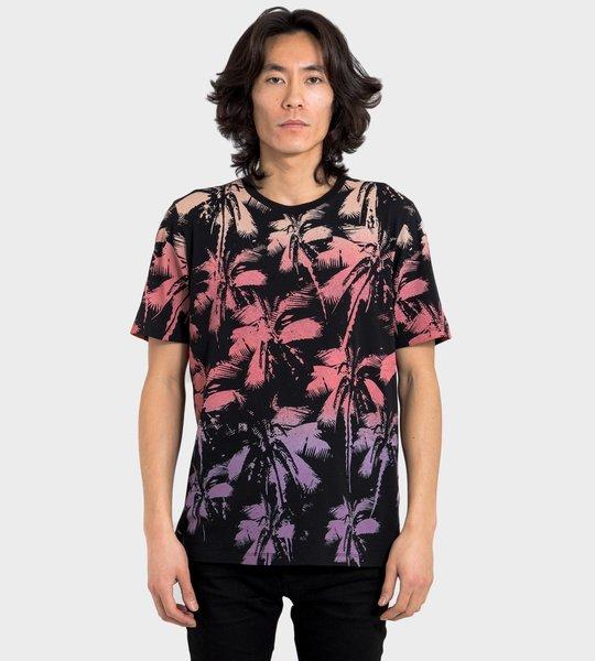 Dip Dye Palm-Print T-Shirt