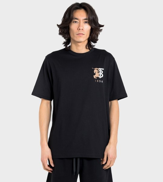 Contrast Logo Graphic Cotton T-Shirt