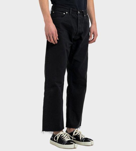 Garment-Dyed Jeans Black