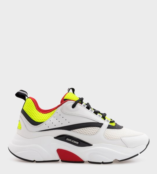 B22 White, yellow and Black Sneaker