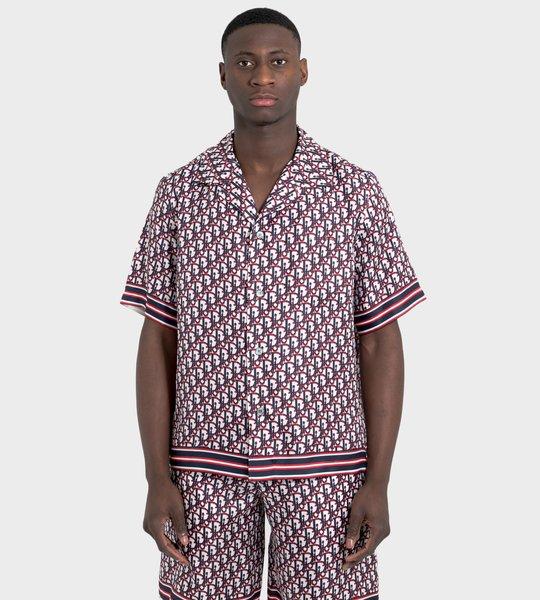 Multicolored Dior Oblique Silk Jacquard  Shirt