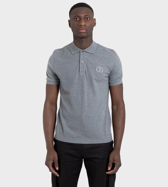 'CD ICON' Logo Cotton Pique Polo Shirt