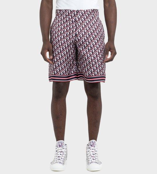 Multicolored Dior Oblique Silk Twill  Bermuda Shorts