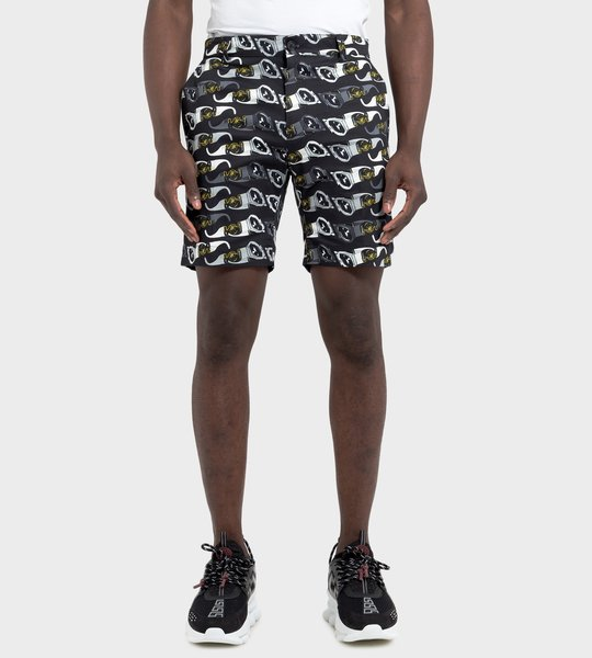Medusa Biggie print Shorts