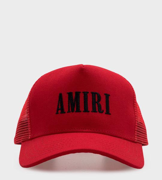 Amiri Red Embroidered Logo Cap