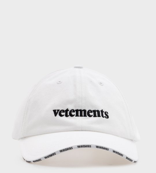 Vetements Denim Logo Cap