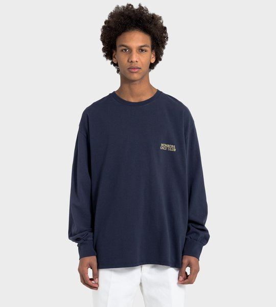 FOUR Members Only Club Longsleeve T-Shirt Blue