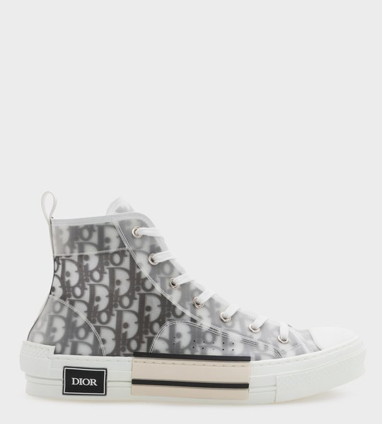 B23 High Top Sneaker Black and White.