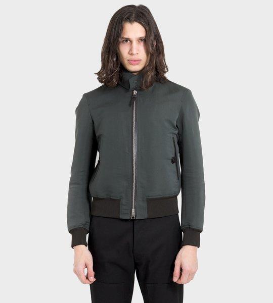 Dyed Poplin Harrington Jacket