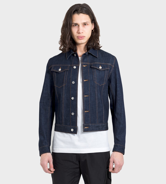 Dior Oblique Motif Stretch Cotton Denim Jacket
