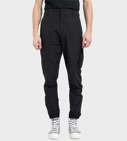 Black Technical Ripstop Cargo Pants