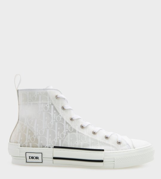 B23 High Top Sneaker White Transparant