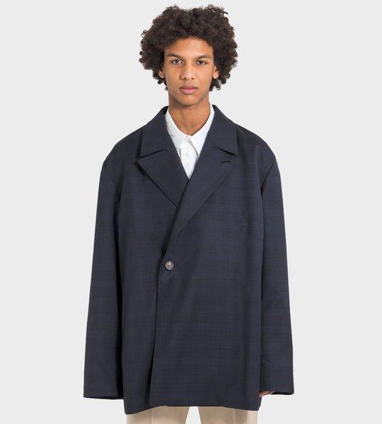 Oversized Checked Jacket