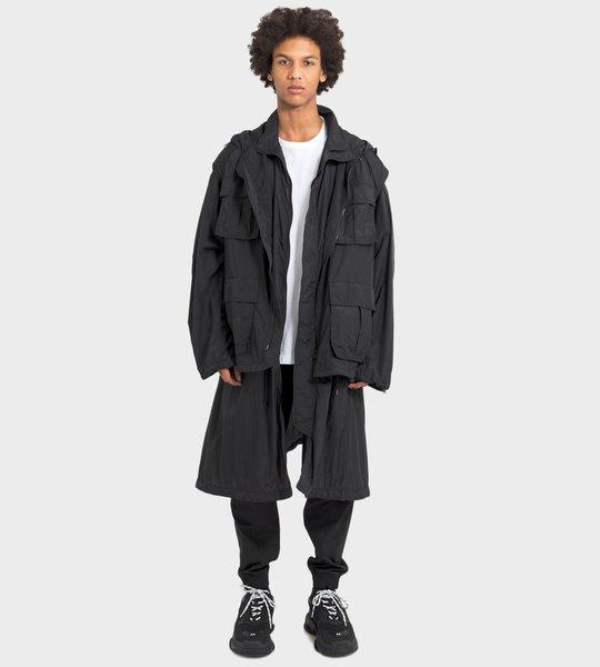 Coat Black On Black