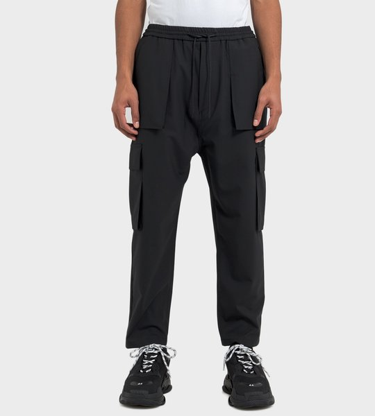 Cropped Cargo Pants Black