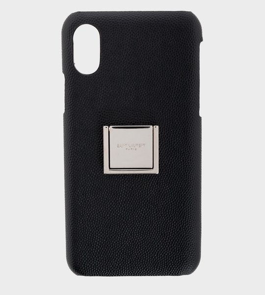 Phone Case Silver Plate Black