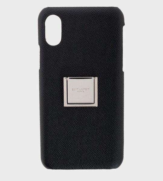 Phone Case Silver Plate Black