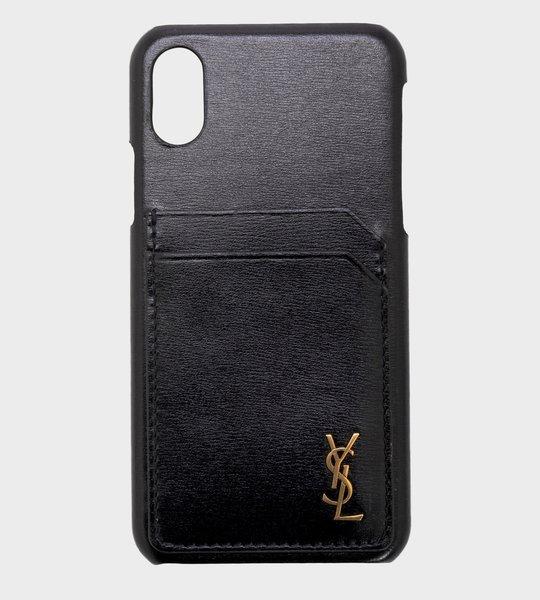 Phone Case Gold Logo Black