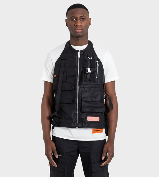 Vest Black Orange Label