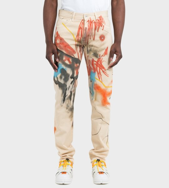 Robert Nava Printed Pants