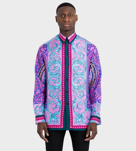 Le Pop Classique Print Silk Twill Shirt