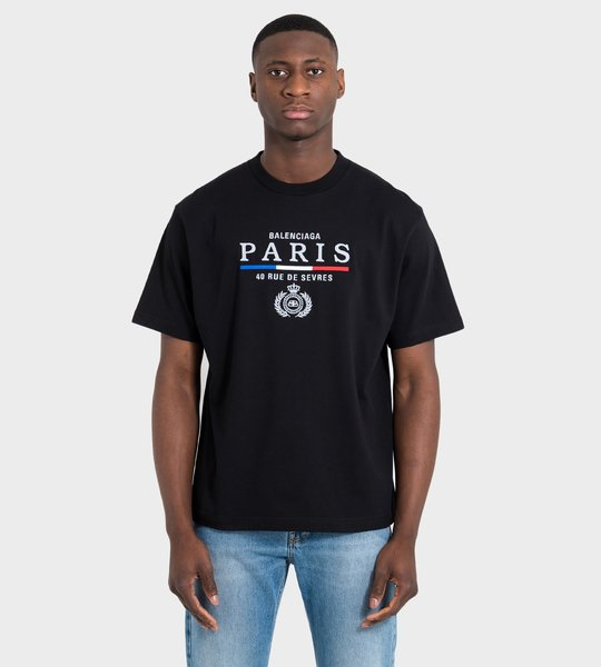 """Paris"" Logo T-shirt Black"