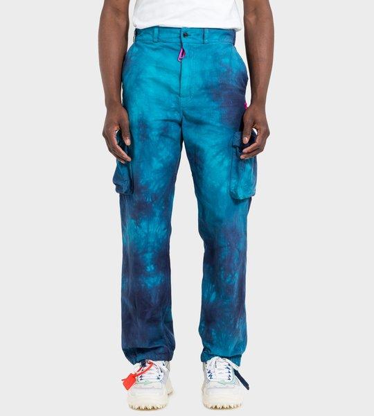 Cotton Ripstop Cargo Pants Blue