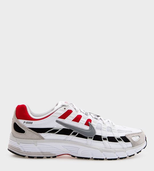 P-6000 White/Particle Grey-University Red