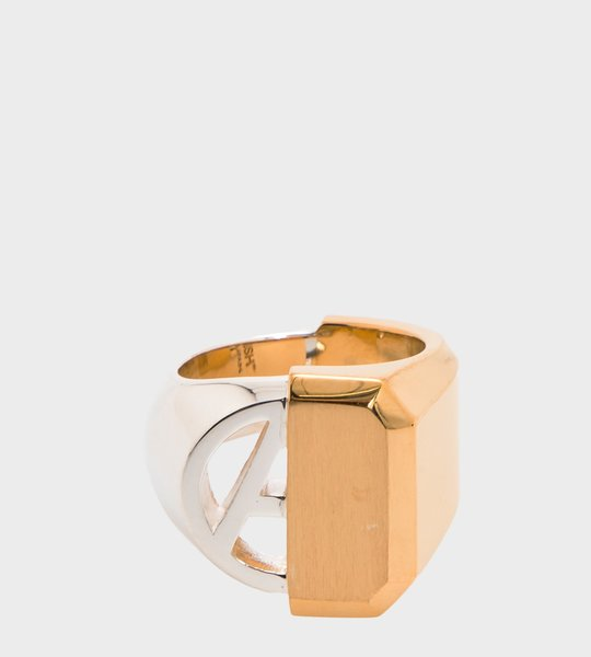 """A"" Misfit Ring Gold"