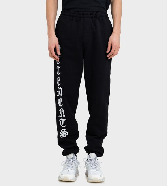 Logo-Print Pants Black