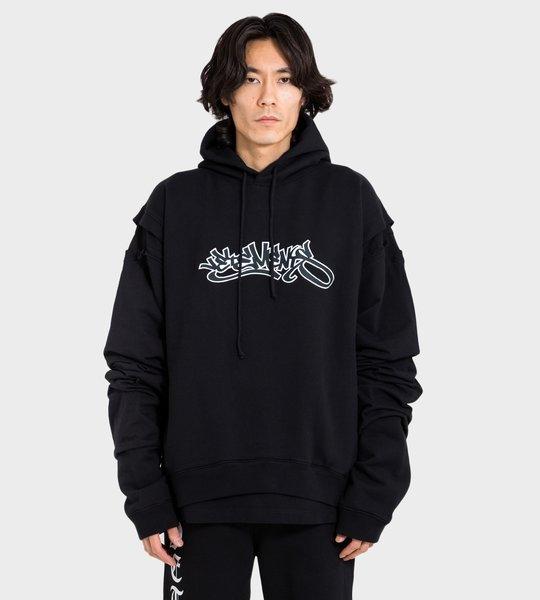 Graffiti Logo Hoodie Black