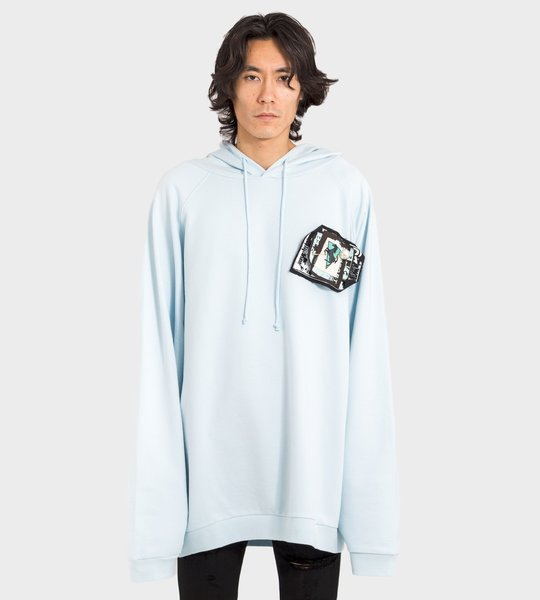 Pins & Patches Hoodie Blue