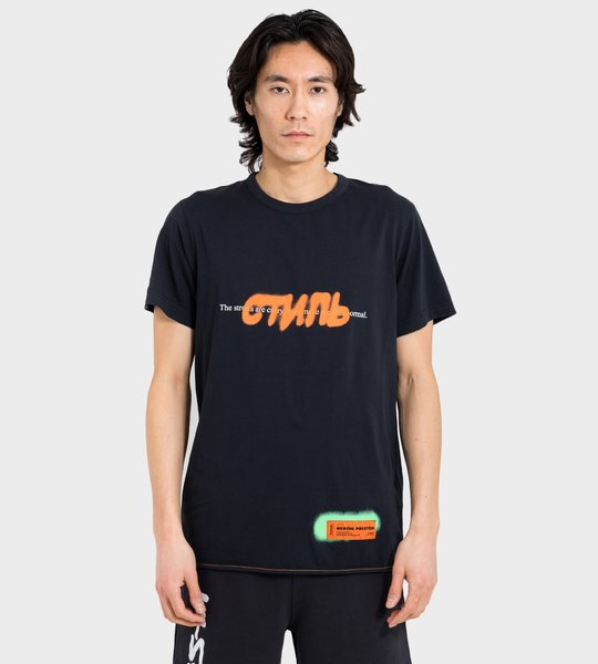 T-Shirt Black Orange Label