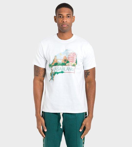 T-shirt White Palm Island