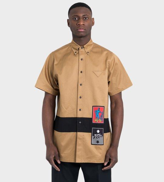 Long Heavy Poplin Shirt Cork