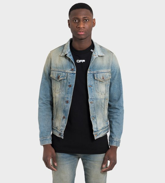 Airport Tape Jeans Jacket Blue