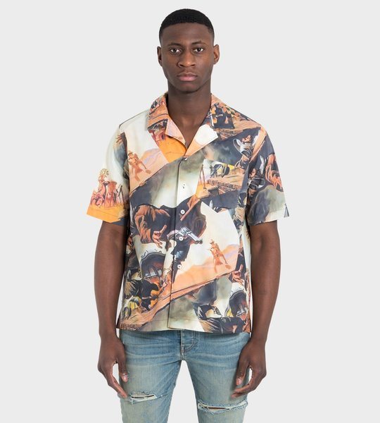 Gunslinger Printed Shirt Brown