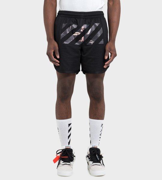 Caravaggio Arrows Mesh Shorts Black