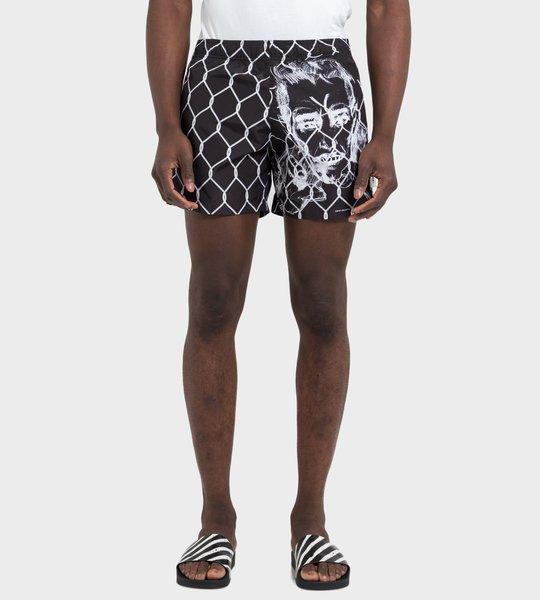Broken Fence Swim Shorts Black