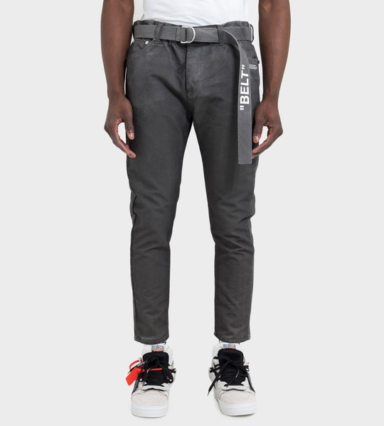 Slim Low Crotch Jeans Black