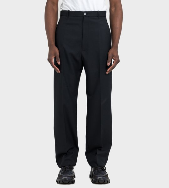 Baggy Tailored Pants Black
