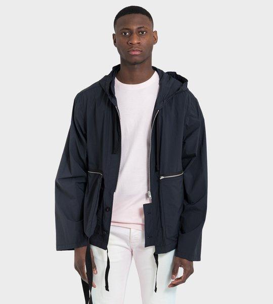 Recycled Nylon Sports Jacket Navy