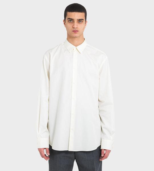 Plain Dress Shirt White
