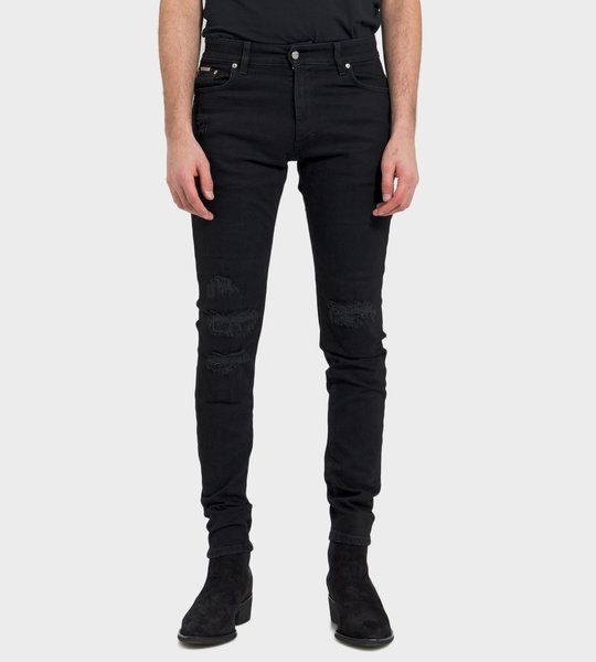 Denim Jet Black Ripped